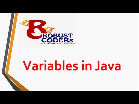 Variables in java | Robust Coders