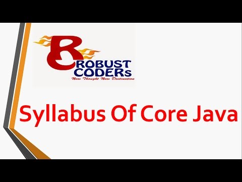 Syllabus of Core Java | Robust Coders
