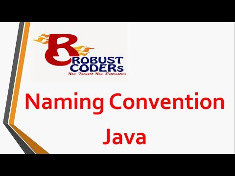 Naming Convention in java| Robust Coders
