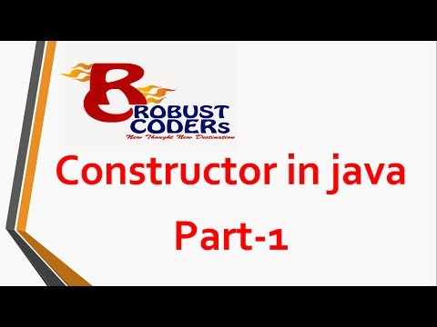 Constructor in java |  Robust Coders